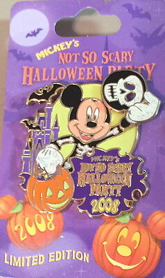 WDW Disney 2008 Mickey's Not So Scary Halloween Party PIN on Card - PP #64166