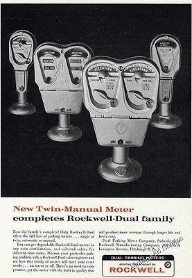 1962 New Twin-Manual Parking Meter Rockwell-Dual Print Ad