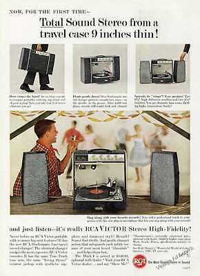 1962 RCA Victor Sound Stereo from Travel Case Vintage Photos Ad
