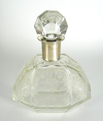 Glas Karaffe mit Montur aus 800er Silber ca. 18cm Glass Decanter with Silver
