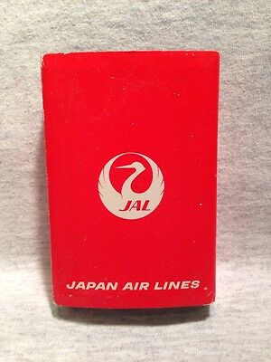 Japan Airlines Jal Vintage Playing Cards Deck In Plastic Case By Nintendo - New!