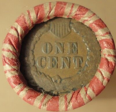 Estate Mixed Wheat Indian Head Roll with Indian Cent ends in Wheat Penny lot am