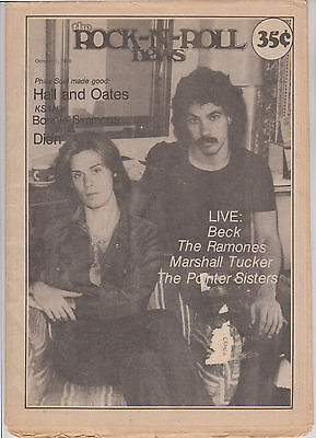 Hall and Oates - 1976 Rock-n-Roll News magazine cover story - also Mott Ramones