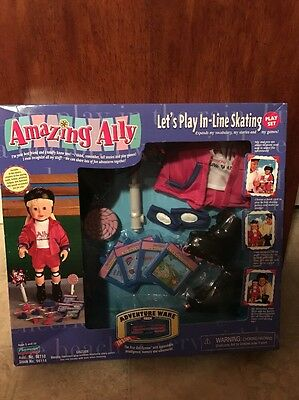 "Playmates AMAZING ALLY  Ally Doll ""Let's Play IN-Line Skating"" NIB 98110"