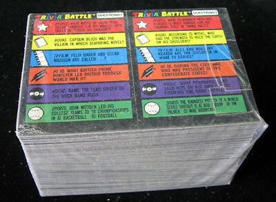 1984 Topps Trivia Battle Game Trading Card Set (132) NM/MT