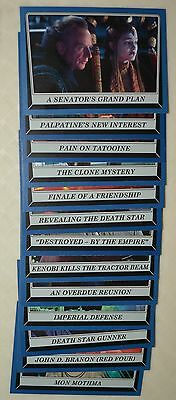 13 card lot - Star Wars Rogue One: Mission Briefing blue parallels