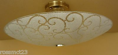 Vintage Lighting matched pair 1970s ceiling fixtures by Progress