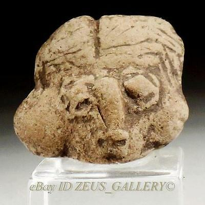 Pre Columbian Pottery Michoacan Fertility Female Figure Head ELB Gallery C.O.A.