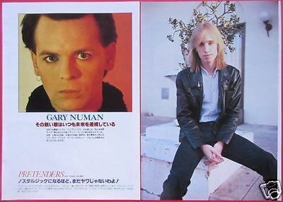 Gary Numan Tom Petty Electric Light Orchestra 1980 Clipping Japan Os 3A 4Page