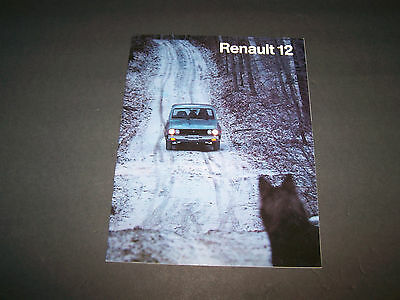 Renault 12 Original Sales Brochure