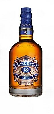 Chivas Regal `18YO` Gold Signature Scotch Whisky  (6 x 700mL), Scotland