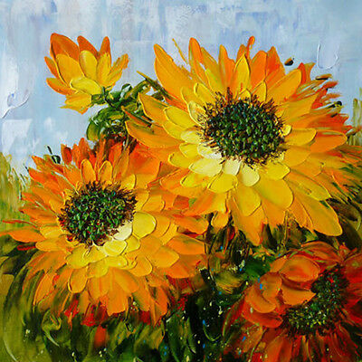 """Modern Abstract Hand-painted Oil Painting Sunflower 20""""x20"""" /NO Frame OP0407"""