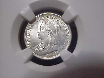 Great Britain 1901 3 Pence NGC MS-66