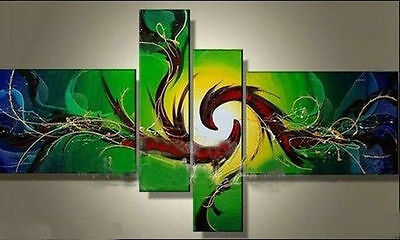 4pc Modern Abstract hand-painted oil painting decorative (no framed)  017