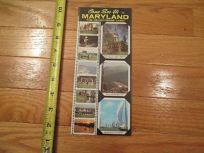 Come See us in Maryland MD Vintage Brochure Map Travel Ephemera