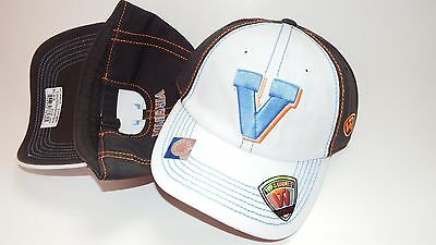 (R1) New Hat Cap Strapback Adjustable Womens Virginia Tow White Blue Charcoal