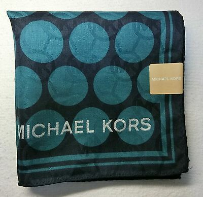 "MICHAEL KORS polka dot handkerchief 50x50cm(19.69"") cotton 100% made in Japan"