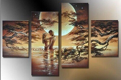 HUGE CANVAS ART MODERN ABSTRACT WALL DECOR OIL PAINTING(no framed)  014