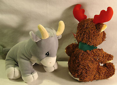 Precious Moments Tender Tails Billy Goat & Reindeer Pair 8In' Plush Toys