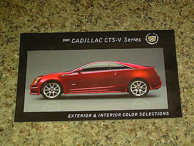 2014 Cadillac Cts-V Series Color Chip Chart Brochure Mint!
