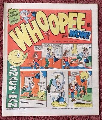 Whoopee And Wow Comic  24 December 1983. Unsold Newsagent Stock. Unread. V/fn+