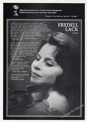 1972 Nice Fredell Lack Photo, Violinist Vintage Booking Ad