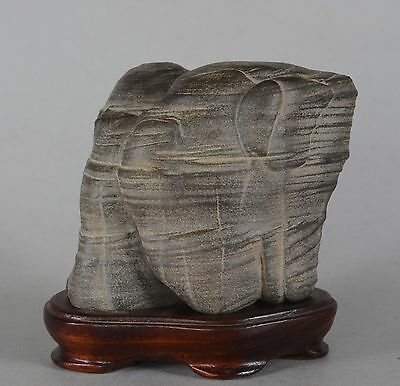 Chinese Scholar's Rock on Stand