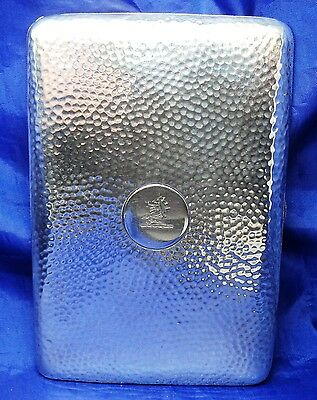 Superb Large Edwardian Solid Silver Card Case By Goldsmiths Company London 1902