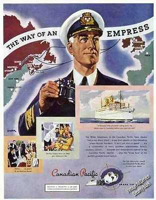 """Canadian Pacific   """"The Way of an Empress"""" Print Ad 1947"""