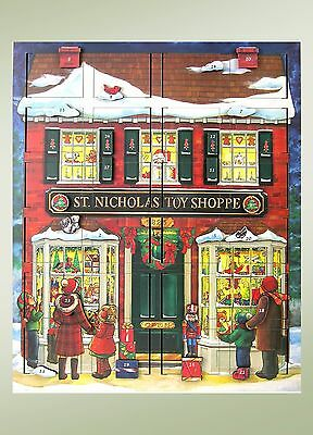 Byers Choice New Musical Advent Toy Shop Calendar Never Used/Displayed
