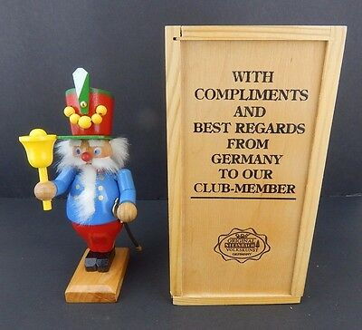 Steinbach Collector Club Bell Ringer with Wood Box Very Good Condition