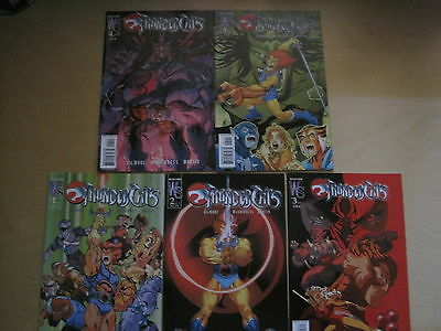 THUNDERCATS : COMPLETE 5 ISSUE SERIES by GILMORE & McGUINNESS. WILDSTORM/DC.2002