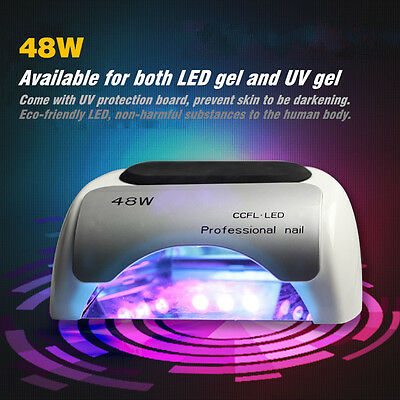 48W Pro Salon CCFL & LED High Power Fast Nail UV Gel Dryer Cure Lamp 6 Color NEW