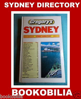 GREGORY'S SYDNEY STREET DIRECTORY - 48th Edition - Vintage 1983-84 Collectable