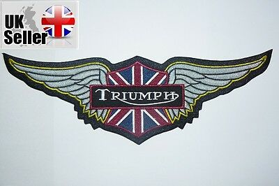 Triumph Wings Large patch Iron on/sew on