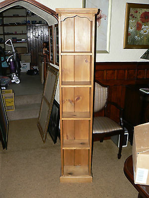 Stunning Vintage Solid Pine Bookcase Wall Shelves Display Unit