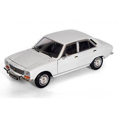 Welly Diecast 1975 Peugeot 504 White - 1:18 Scale Diecast Car