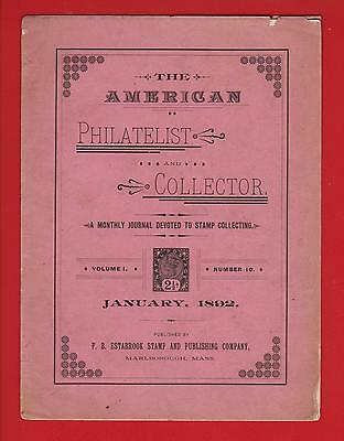 Very Early Journals– The American Philatelist 1892 (3) 1896