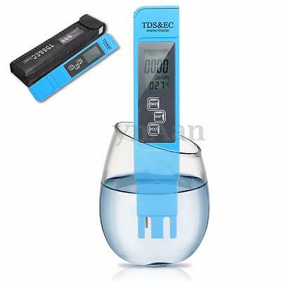 3in1 Digital LCD TDS EC TEMP PPM PH Meter Tester Filter Pen Water Quality Purity
