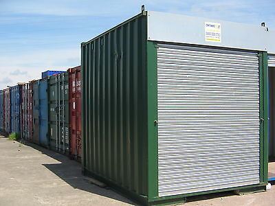 10FT x 8FT HIGH CUBE STEEL STORAGE SHIPPING CONTAINER FOR HIRE - LANCS BASED