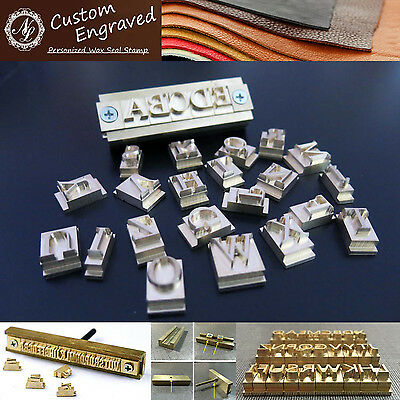 26pcs Alphabet Letters + Fixture Leather Stamp Carving Tool Branding Iron Mold