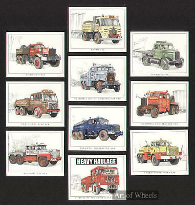 Heavy Haulage Foden Scammell Diamond Print Trade Cards