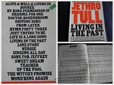 Jethro Tull Living In The Past (Noten Akkorde,Texte,)