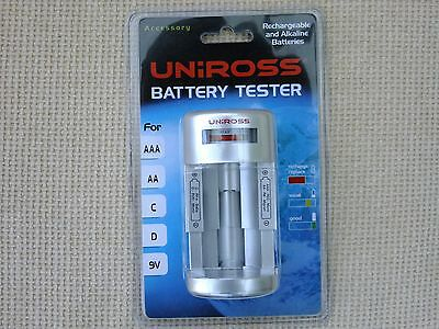 UNIROSS BATTERY TESTER RA104588 for AAA AA C D 9v