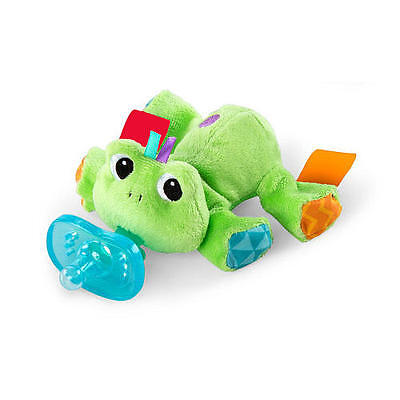 New Bright Starts Cozy Coos Deluxe Pacifier - Frog Model:24365818