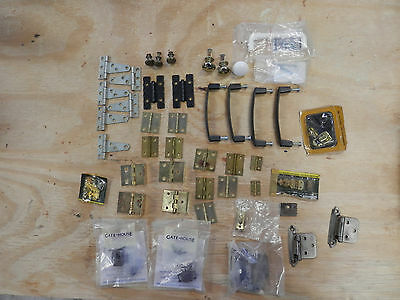 Misc lot of Hinges, Door handles, Drawel pulls and Drawel handles