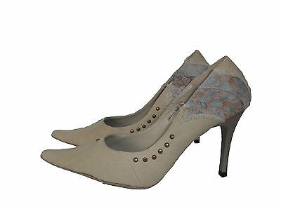 Ladies Beige Pointed Stiletto Shoes Size 5 - New