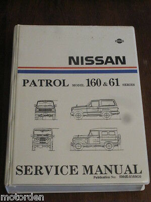"""NISSAN PATROL Model 160 & 61 Series 1980 official factory SERVICE MANUAL 2""""thick"""