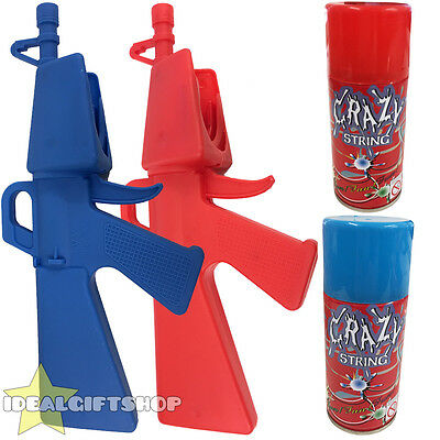 Silly String Blaster Gun With Two Cans Of 160Ml Crazy String Fancy Dress Party