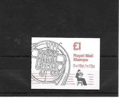 GB 1986 Musical Instruments #2 Folded £1 Booklet - FH 6
